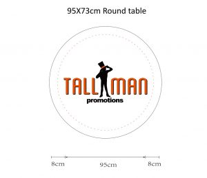 Round Stretch Table Top Cover Artwork template