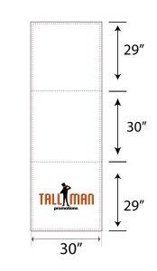 6ft table runner artwork template