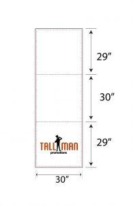 8ft Table runner artwork template