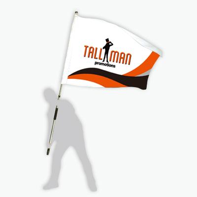 hand flag custom printed