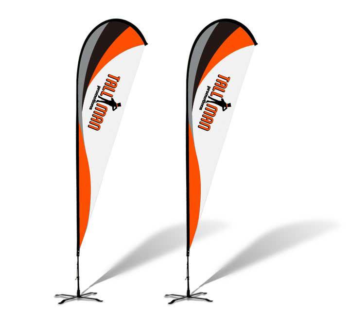 Tallman Promotions Custom teardrop flag