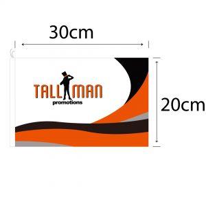 30cm Tourist Flag template