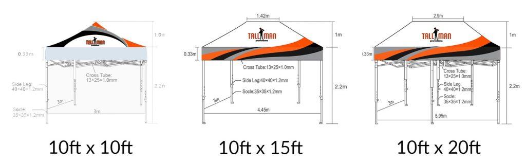 Hex frame tent specs