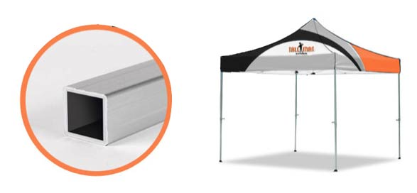 instant canopy with square frame