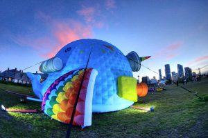 whale inflatable animal