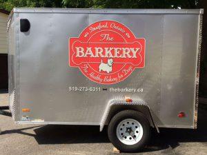 Barkery Trailer decals