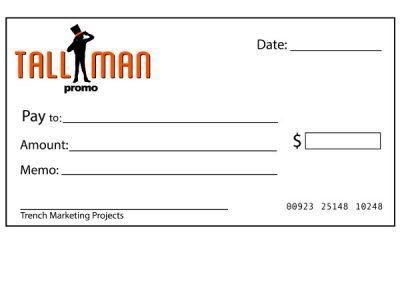 custom big cheque