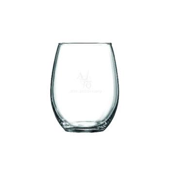 Custom steamless wineglass